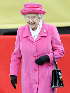 Queen Elizabeth Wears Pink After Birth of Great-Granddaughter