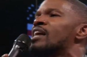 Everyone Is Calling Jamie Foxx's National Anthem Performance The Worst One Of All Time