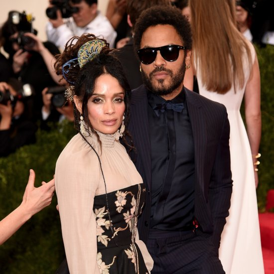 Lisa Bonet and Lenny Kravitz at the Met Gala 2015