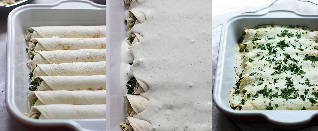 Velvety-Smooth Spinach, Chicken, and Cheese Enchiladas With Jalapeño Cream Cheese Sauce
