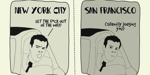 The Difference Between Living in New York and San Francisco