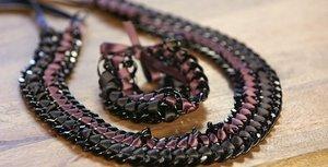Pretty Ribbon and Chain Jewelry