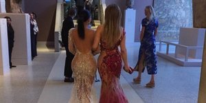Kanye West Snaps Photo Of Kim K And J.Lo, From Behind