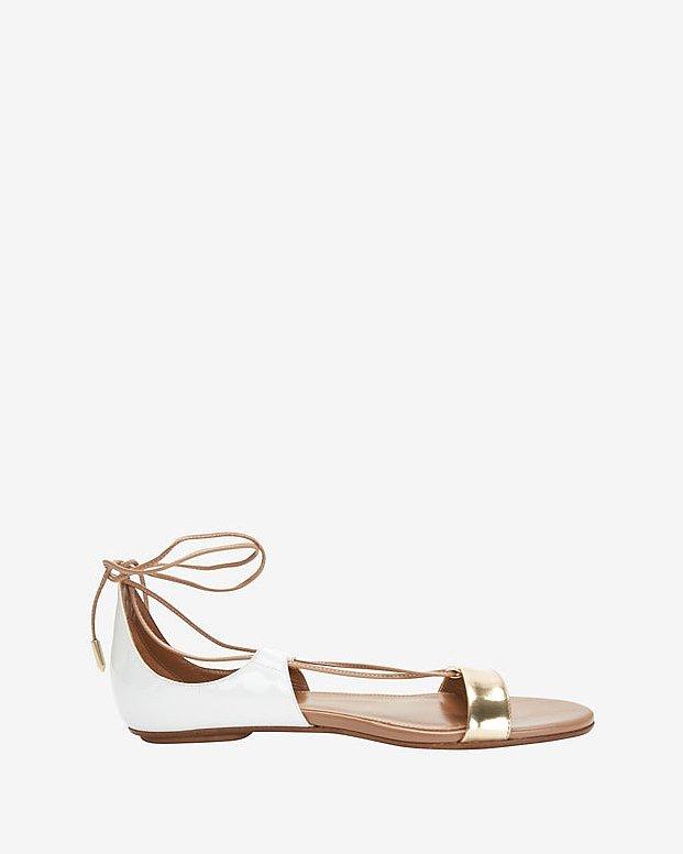Aquazzura Lace-Up Flat Sandal