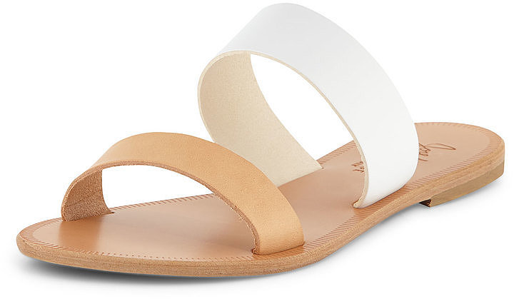 Joie Two-Tone Flat Sandal Slide