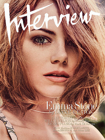 Emma Stone Tells Diane Keaton That Andrew Garfield Is 'Such a Poet'