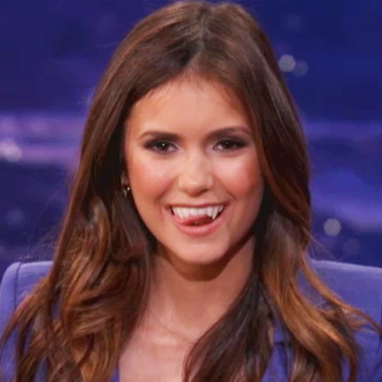 Nina Dobrev Interview on Conan About The Vampire Diaries