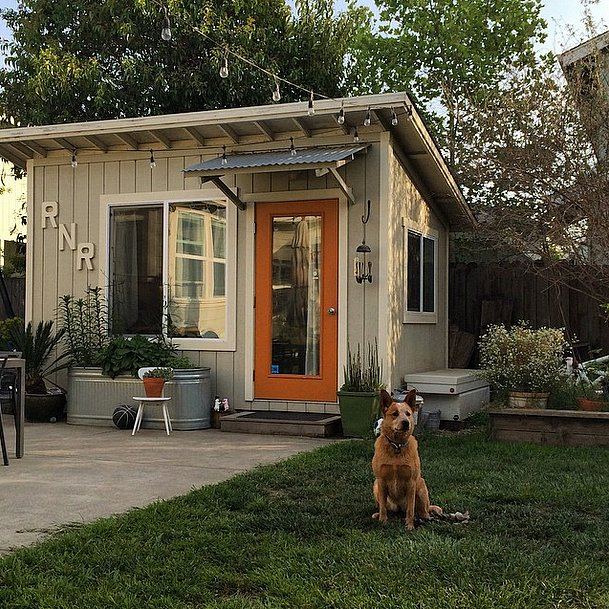This craftsman style she shed makes its intentions clear for Large backyard sheds