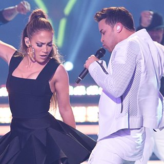 Jennifer Lopez, Pitbull, and Ricky Martin on American Idol