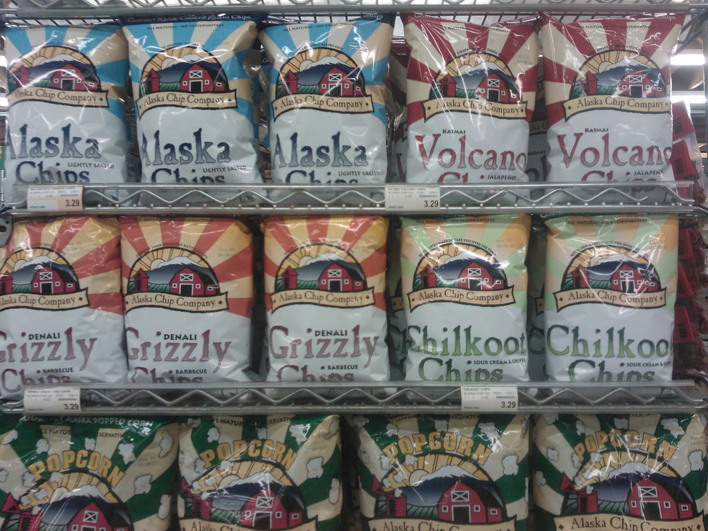 Alaska: Alaska Chip Co. Grizzly Barbecue Chips