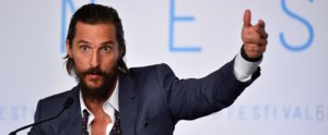 Matthew McConaughey's Response to Being Booed at Cannes Is Just So Matthew McConaughey