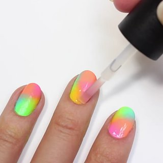This Is the Easiest Neon Nail Art Tutorial You'll Ever Try