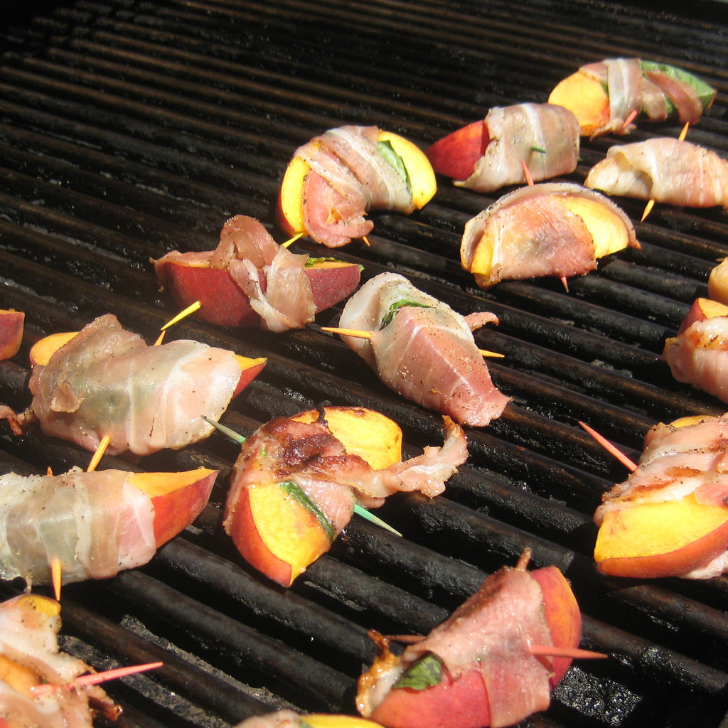 Pancetta-Wrapped Peaches