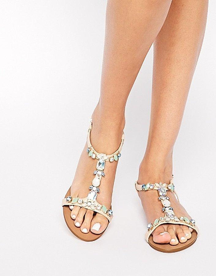 Dune Natallie Embellished Flat Sandals