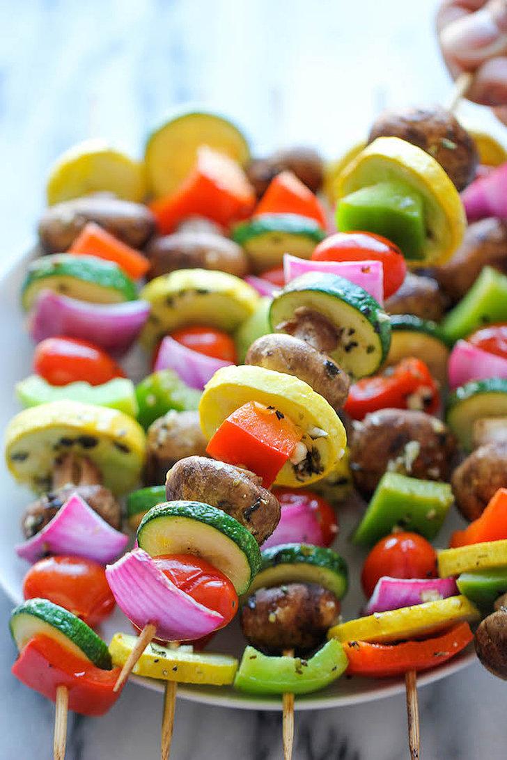Garlic-Herb Vegetable Kebabs