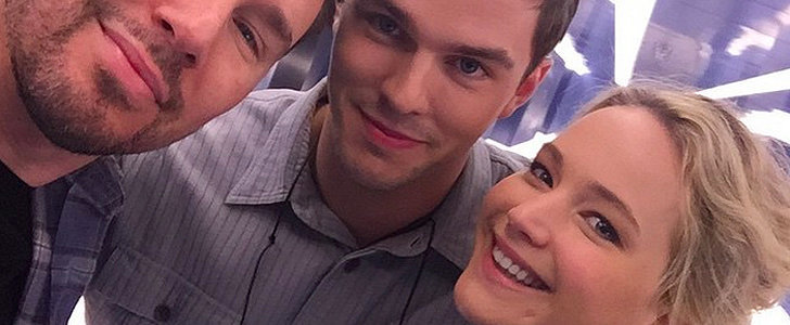 Jennifer Lawrence Reunites With Nicholas Hoult on the Set of X-Men: Apocalypse!