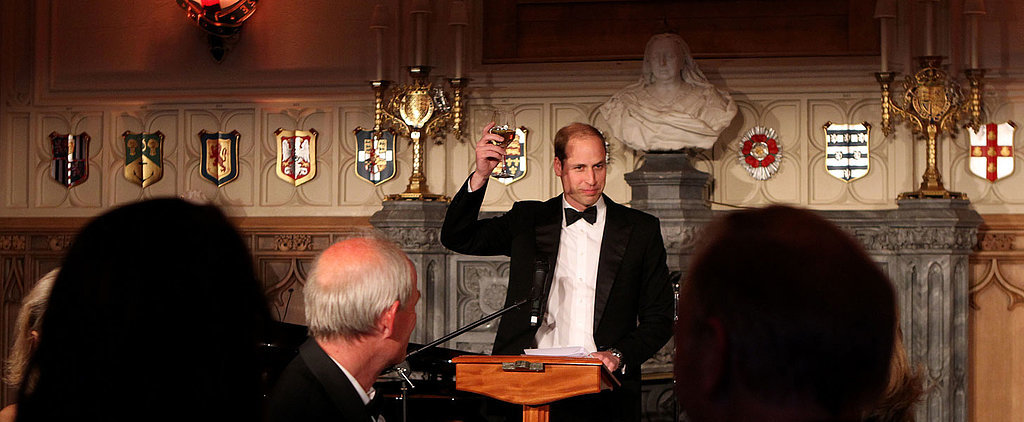 Prince William Suits Up to Party at His Grandmother's Castle