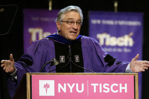 "Robert De Niro Tells NYU Grad Students ""You're F--ed"" in Commencement Speech"