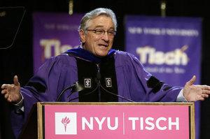 "Robert De Niro Tells NYU Grad Students ""You're F--ed"" in Commencement Speech"
