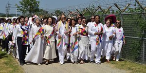 Women Peace Activists Cross DMZ Dividing North And South Korea