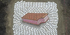 Artist Jim Bachor Fixes Chicago Potholes With Ice Cream Mosaics
