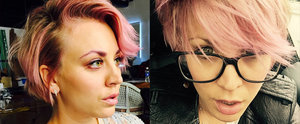 Kaley Cuoco Is the Latest Celebrity to Get Rose-Gold Hair