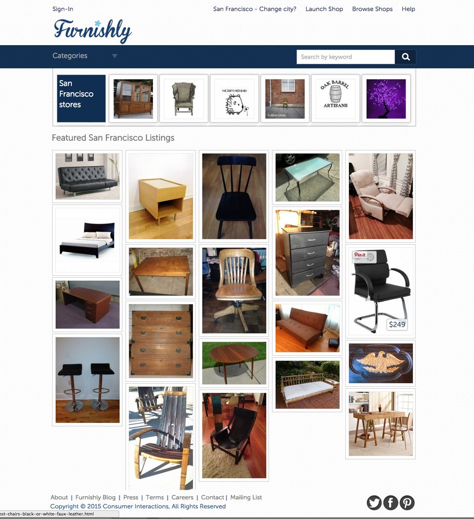 Furnishly for Places to sell furniture online