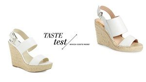 Can You Tell Which Espadrille Wedges Cost $35 More Than The Other?