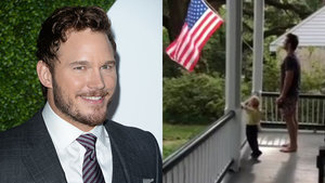 Chris Pratt Recites the Pledge of Allegiance With His Son and It's the Best Thing You'll See All Day!