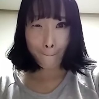 Korean Woman Removes Half Her Makeup