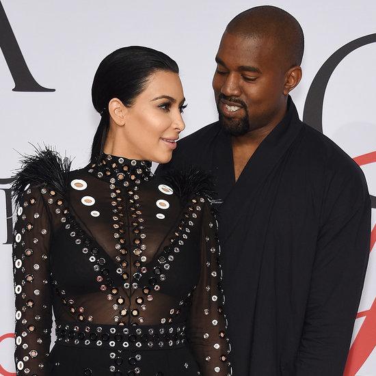 Kim Kardashian and Kanye West at CFDA Awards 2015 | Photos