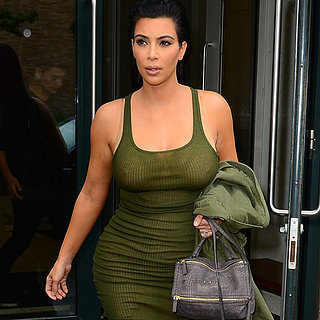 Kim Kardashian Wearing Sheer Tank Dress in New York City