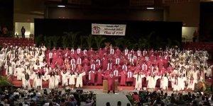 Graduating Senior Class Learns Epic Mashup To Say Aloha To High School