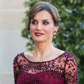 Queen Letizia Burgundy Dress