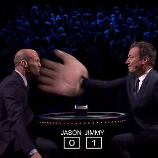 Jason Statham and Jimmy Fallon Playing Slapjack