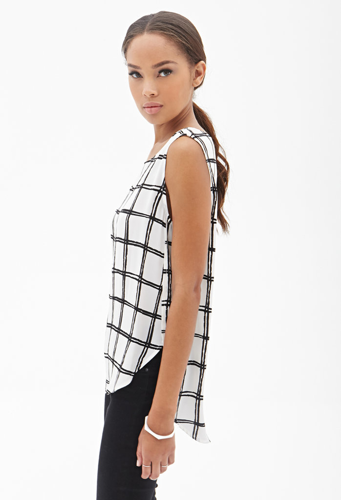 Forever 21 Windowpane Print Blouse