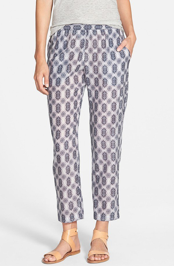 Velvet by Graham & Spencer 'Nuku' Print Pants ($178)