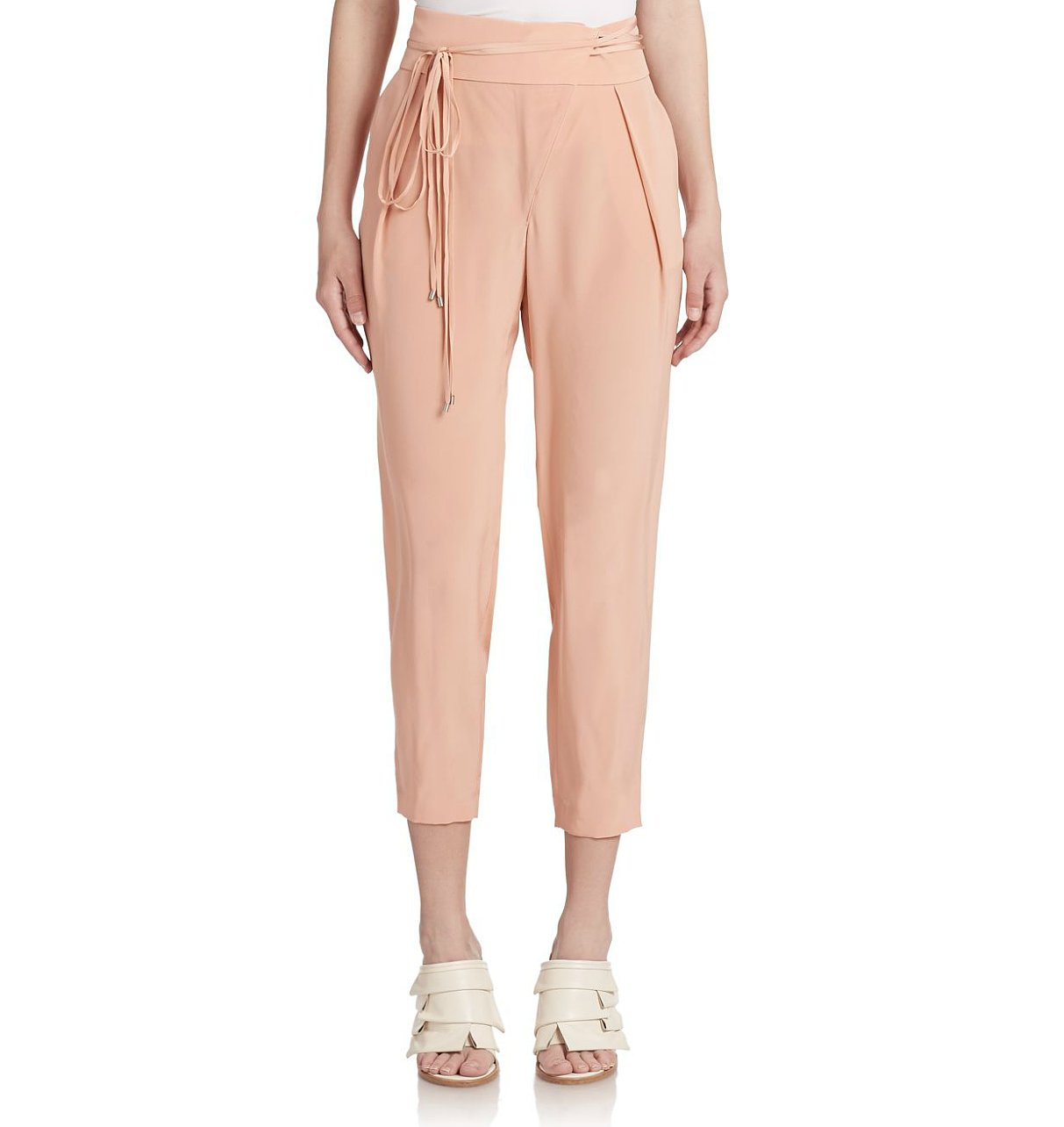Tibi Cropped Silk Pants ($350)