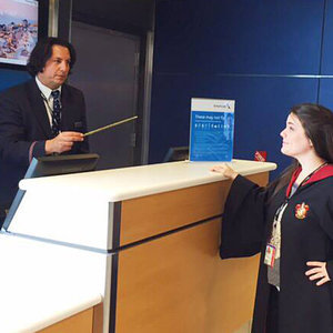American Airlines Staff Member Looks Like Severus Snape