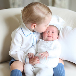 Princess Charlotte's First Portrait With Prince George