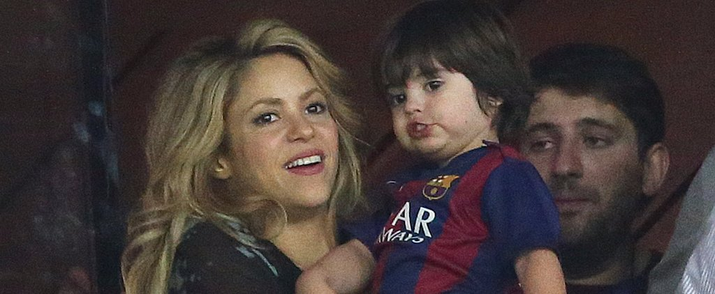 Shakira and Her Adorable Sons Celebrate Gerard's Champions League Win