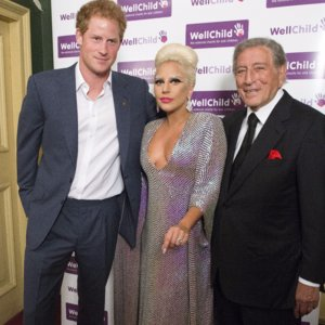 Pictures of Prince Harry and Lady Gaga at WellChild Event
