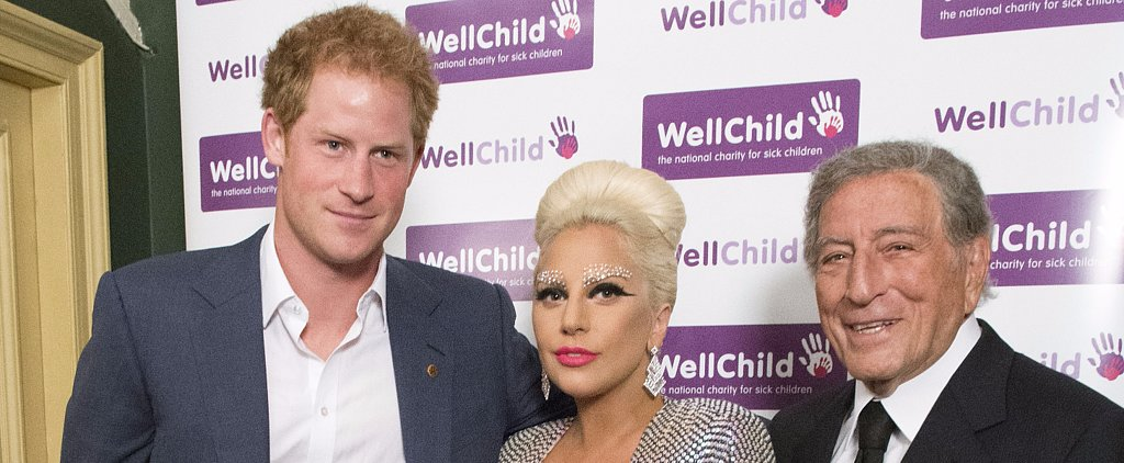 Prince Harry and Lady Gaga Rub Elbows in London