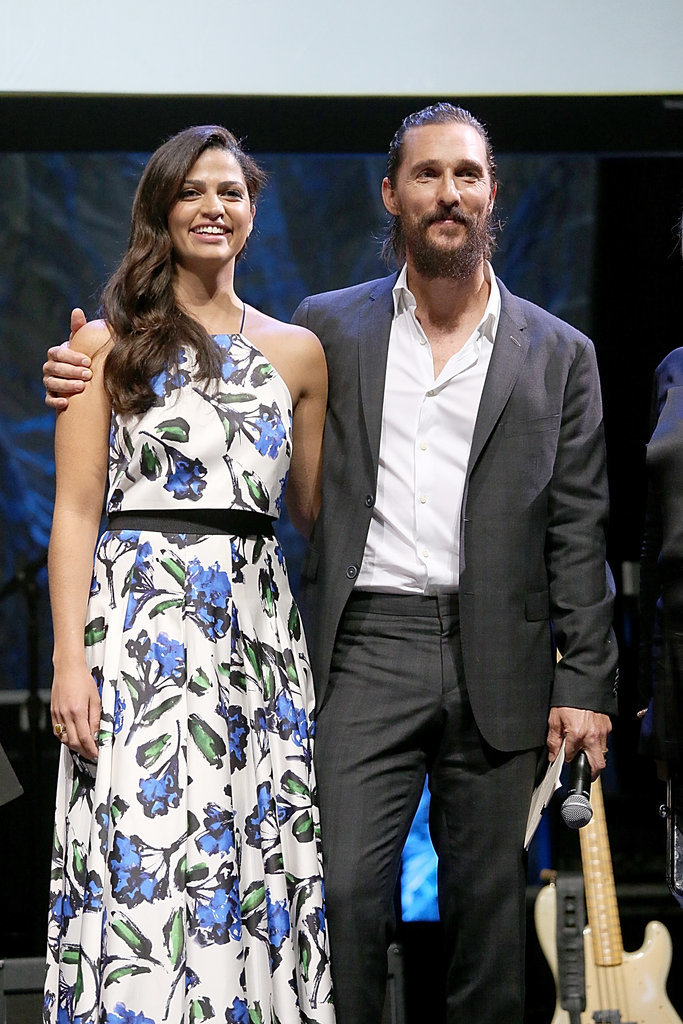 Matthew had his arm around his wife during a charity event in Austin, TX, in April 2015.