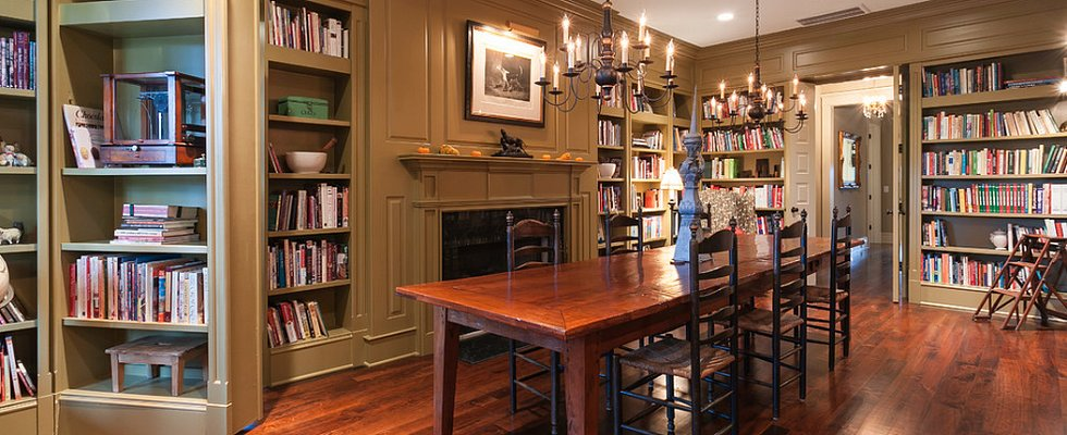 Dinner and a Good Book: 12 Double-Duty Dining Rooms