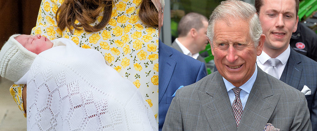"Prince Charles Gushes About Charlotte, Says She's ""Easier"" to Handle Than George"
