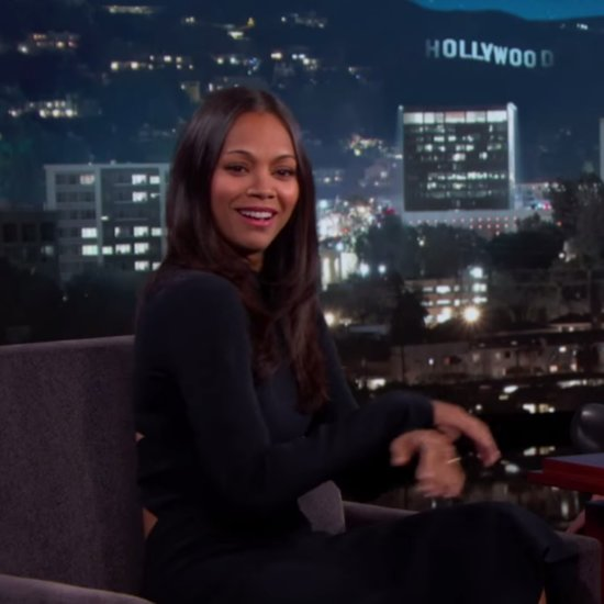 Zoe Saldana Impersonates Husband