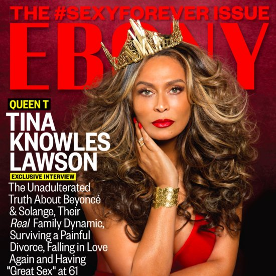 Tina Knowles in Ebony July 2015
