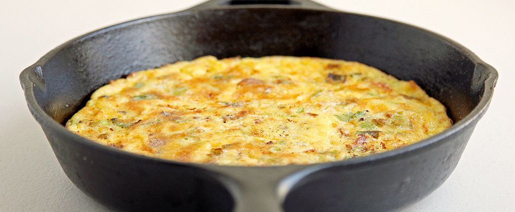 Easy, Breezy, Cheesy: Cheddar, Bacon, and Leek Frittata