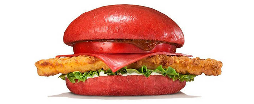 How Did Burger King's Red Burger Buns and Cheese Get Their Hue?